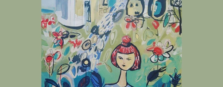 Eva Verdev painting
